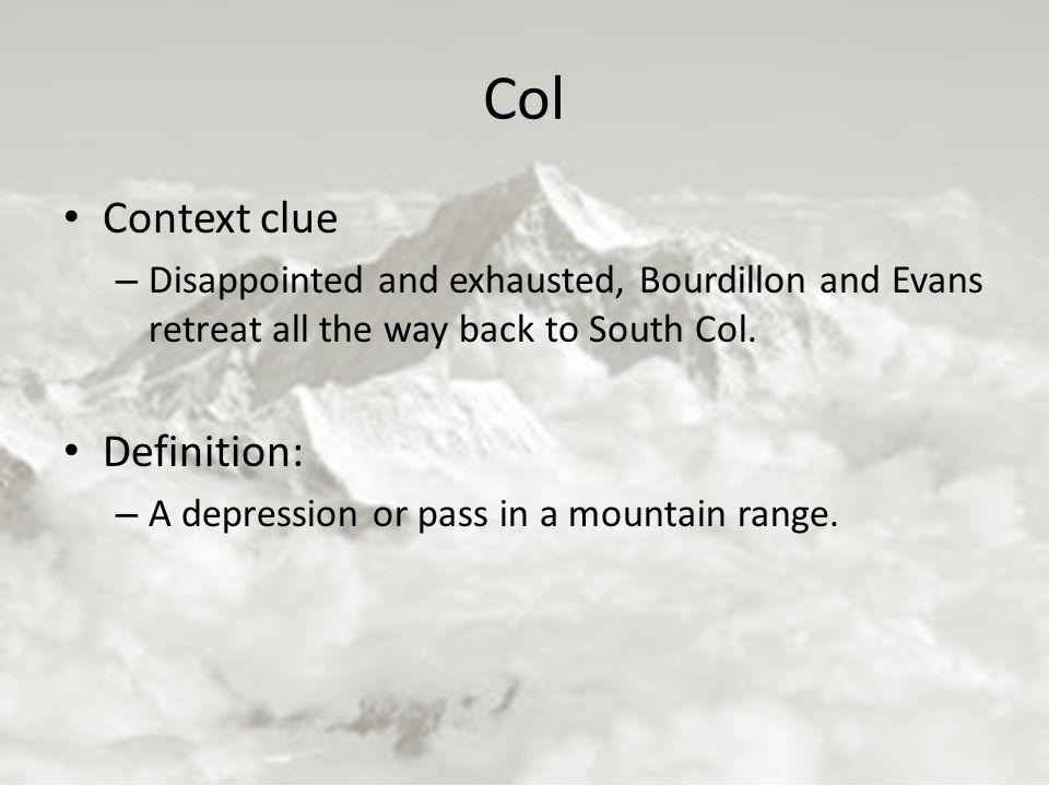 Col Context Clue Definition: