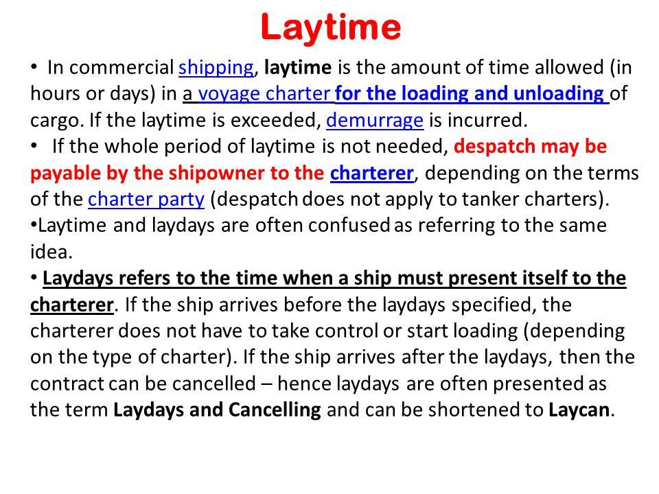 41 Laytime ...