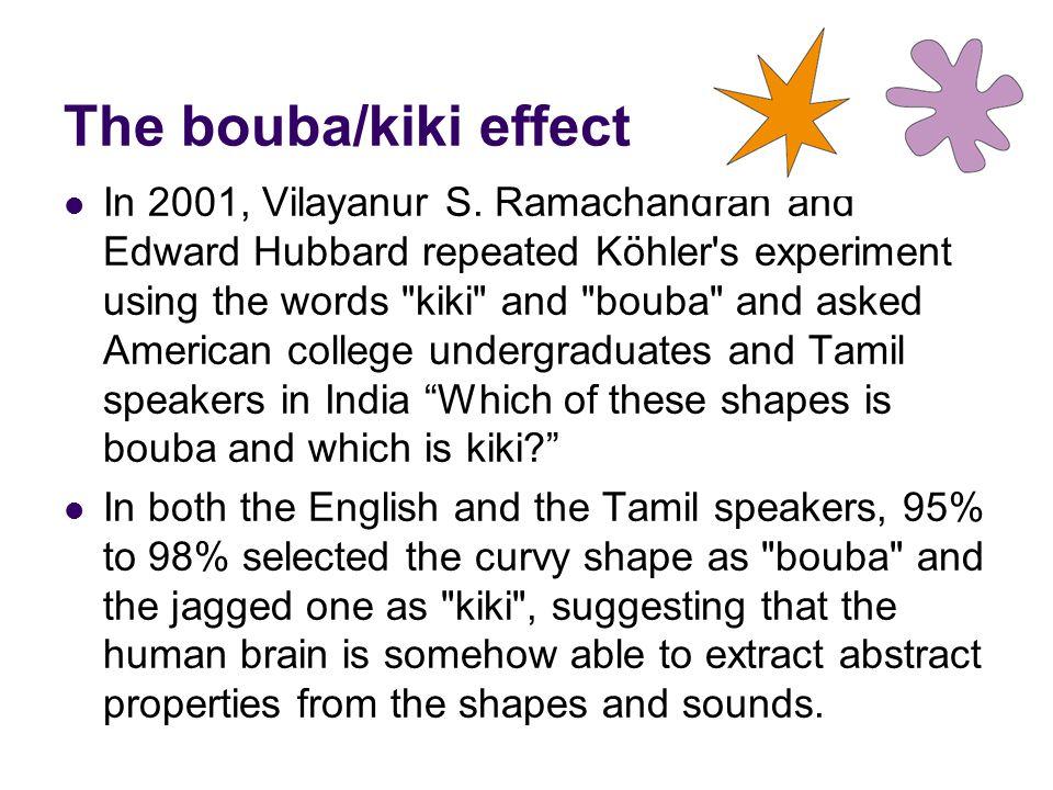 The bouba/kiki effect