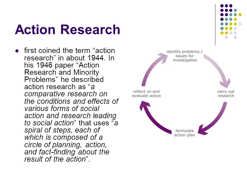 1946 paper action research and minority problems Contextural action research (action research' in his 1946 paper action research and minority action research and minority problems, journal.