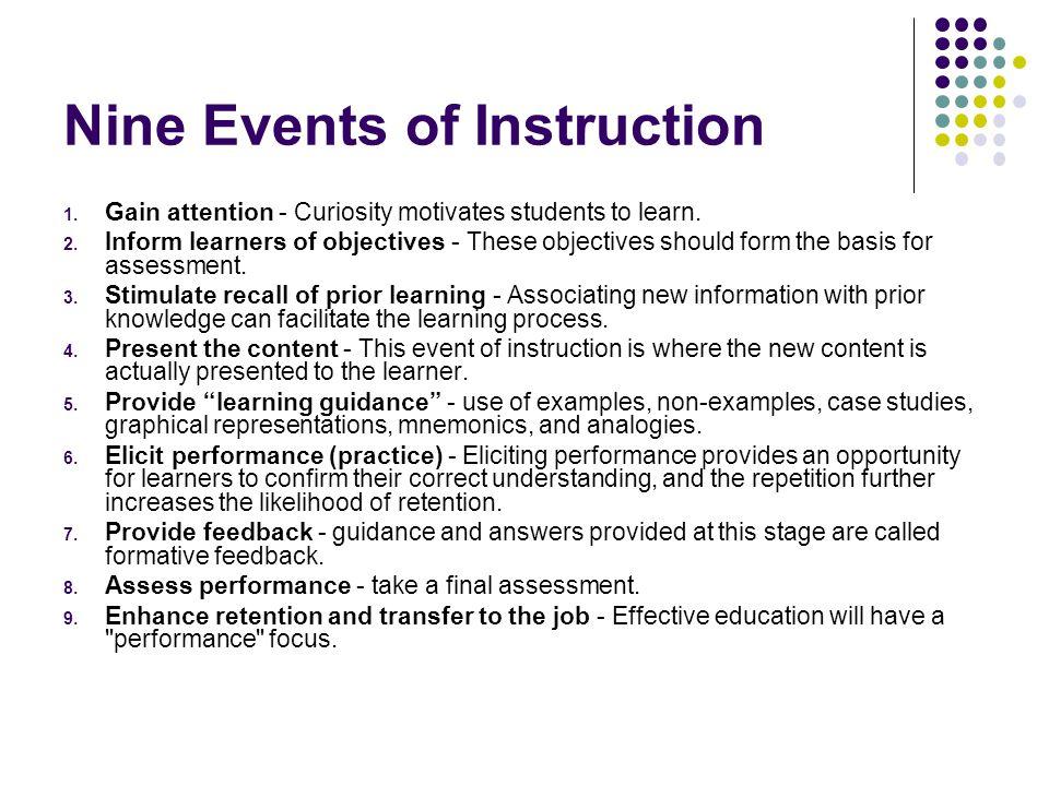 Nine Events of Instruction