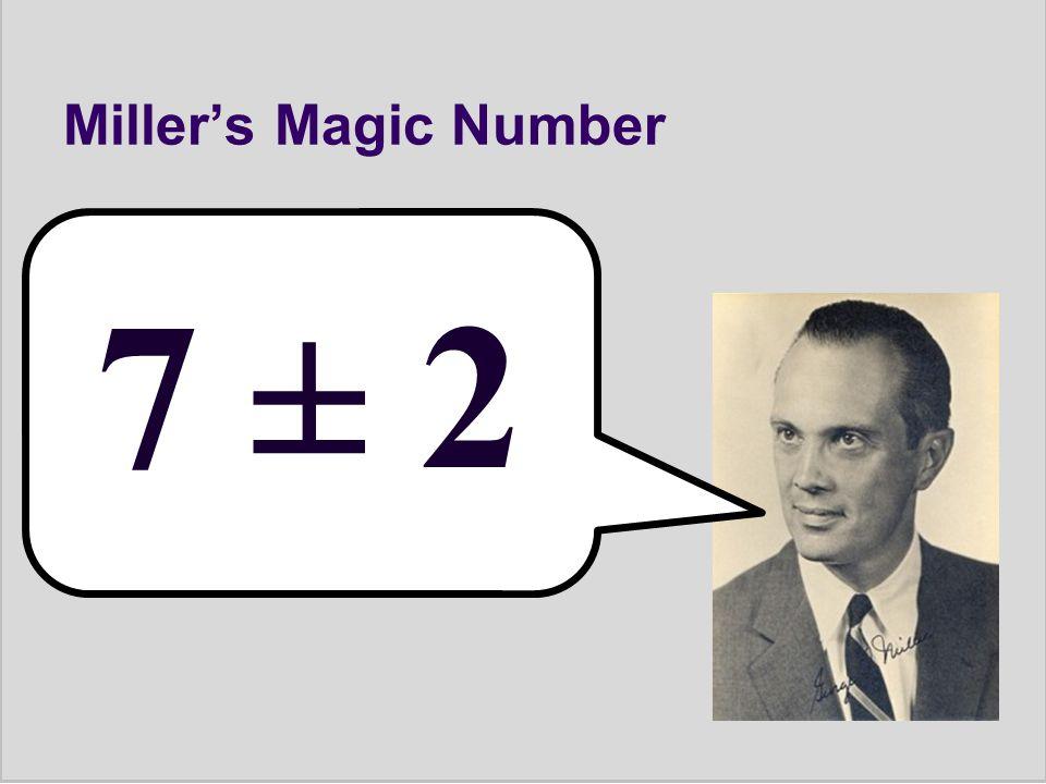Miller's Magic Number 7 ± 2