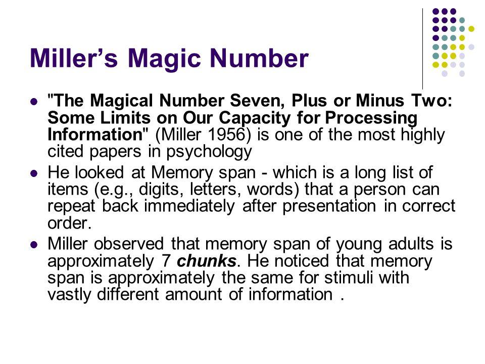 Miller's Magic Number