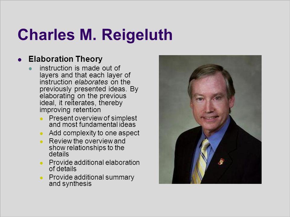 Charles M. Reigeluth Elaboration Theory