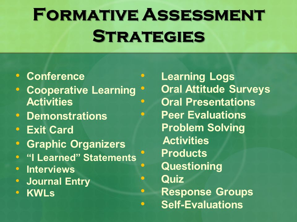 In)Formative Assessment - Ppt Video Online Download