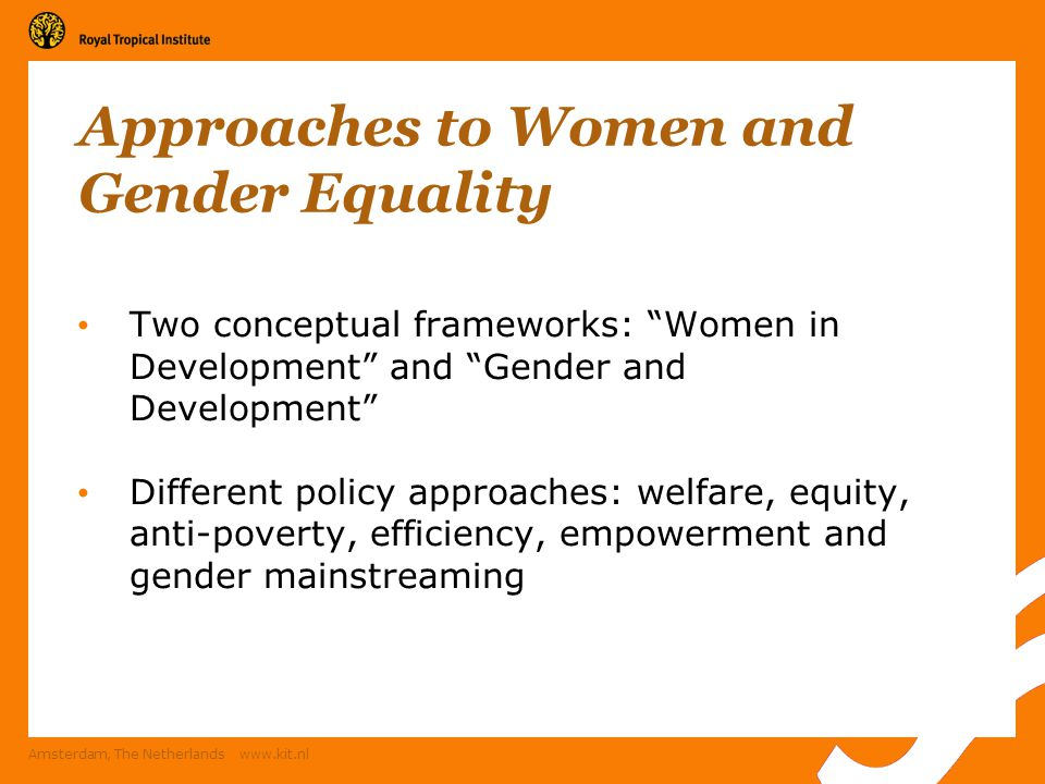 Approaches to Women and Gender Equality