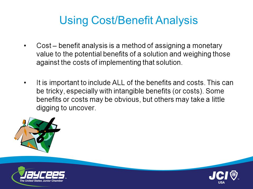 monetary cost benefit analysis pdf