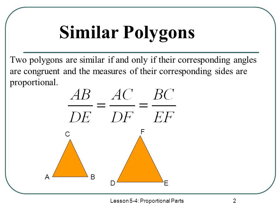 Lesson 5 4 Proportional Parts Ppt Download