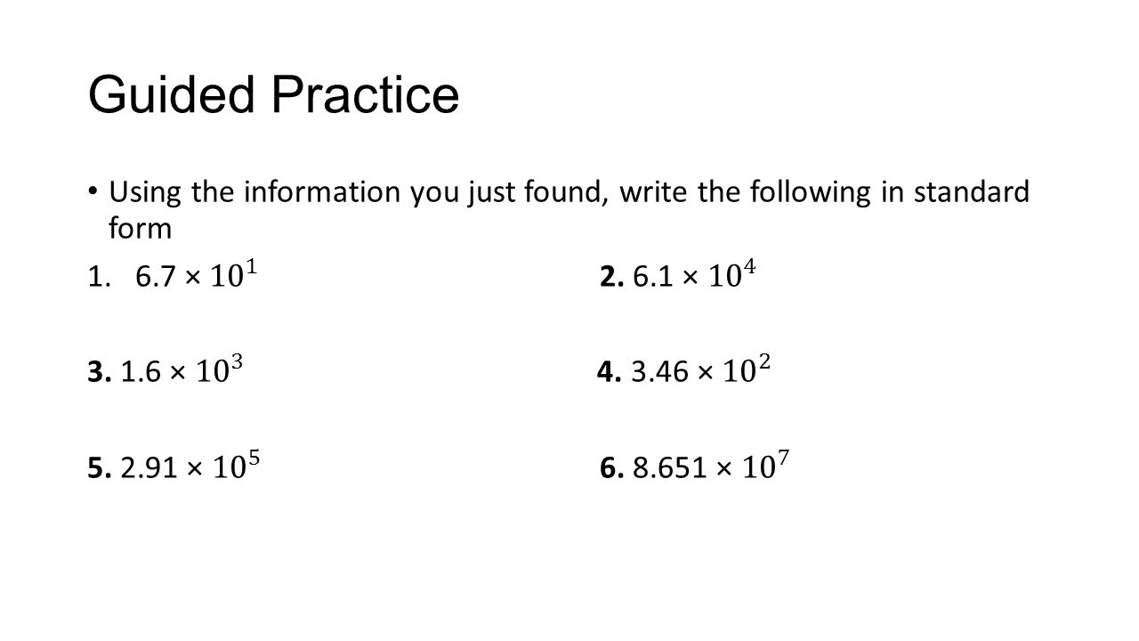Warm up simplify the following them find the value ppt download guided practice using the information you just found write the following in standard form falaconquin