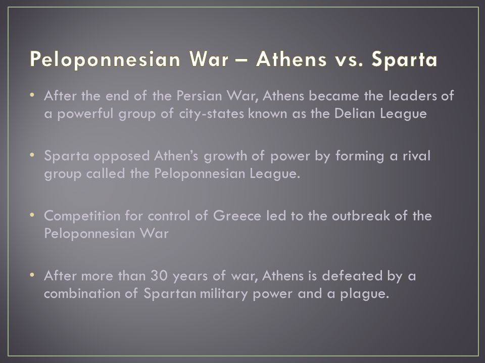 peloponnesian war vs The history of the peloponnesian war, by thucydides, tells the story of the war of that name that took place in ancient greece read more published on november 26, 2012.