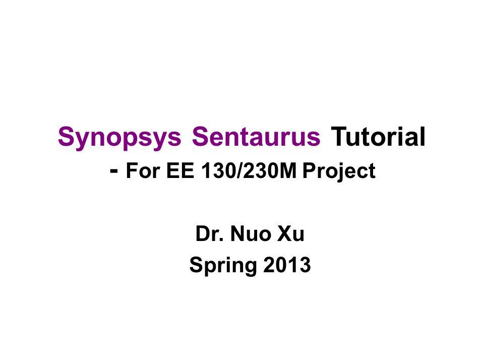 Tcad sentaurus tutorial.