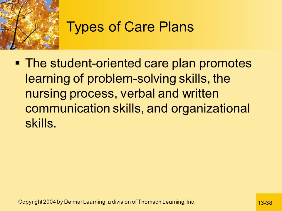 Types of Care Plans