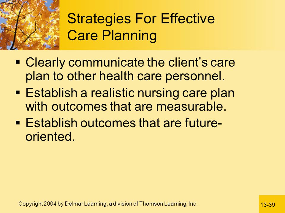 Strategies For Effective Care Planning