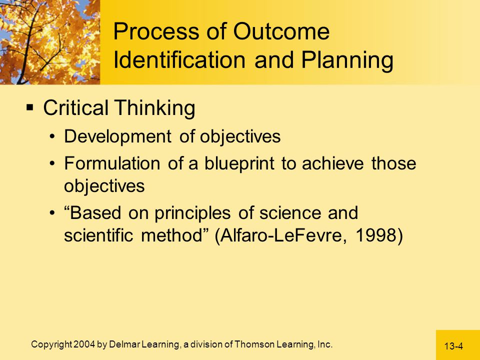 Process of Outcome Identification and Planning
