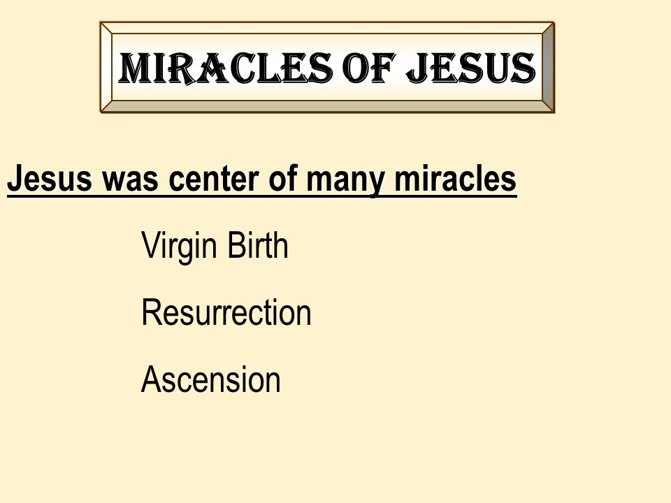 Purpose of miracles in the new