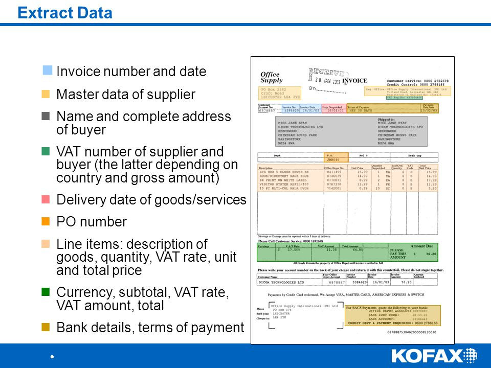 extract invoice data from pdf