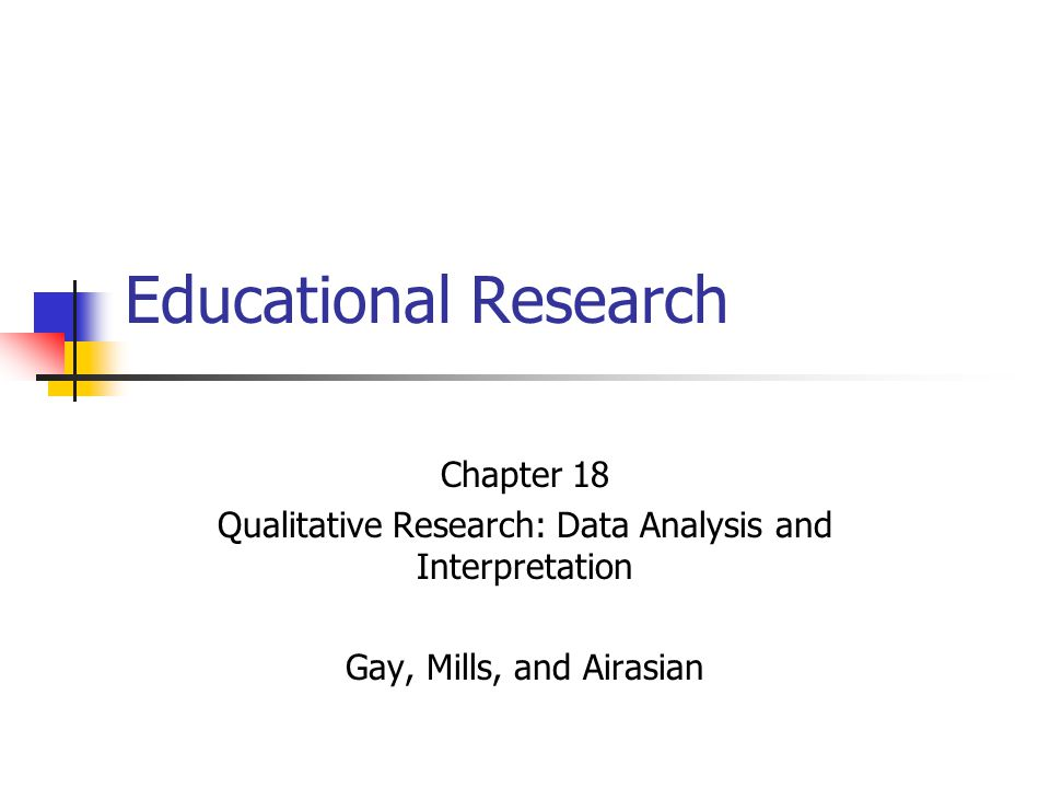 Qualitative Research: Data Analysis and Interpretation