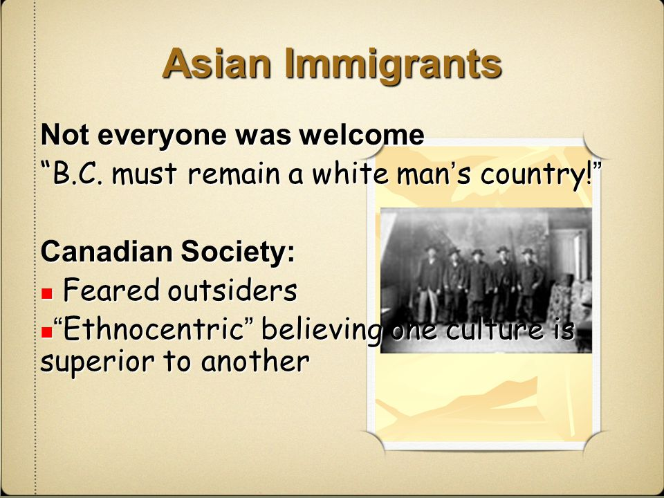 Canada's immigration history one of discrimination and exclusion