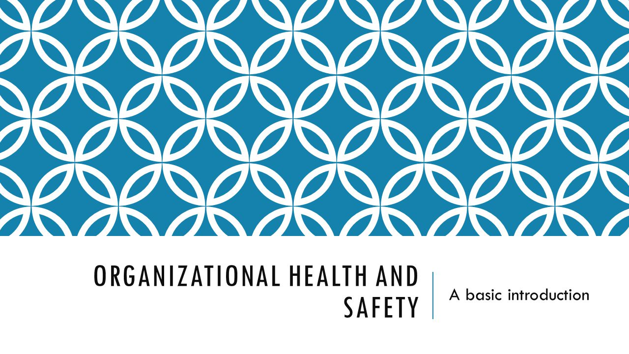 an introduction to the importance of occupational health and safety When talking about occupational health and safety, many people will immediately consider their own working environment and conditions for the millions of.
