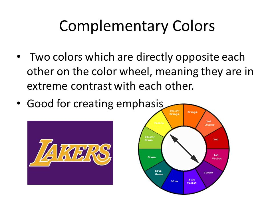Colors Directly Opposite Color Wheel vocabulary terms: color!! - ppt download