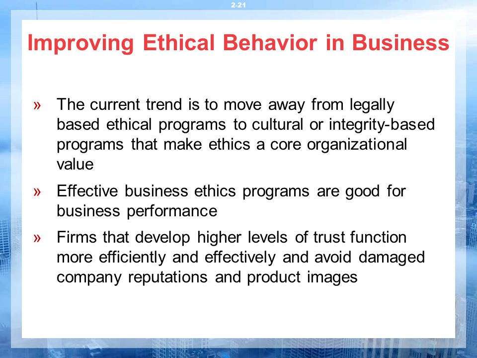What is 'Business Ethics'
