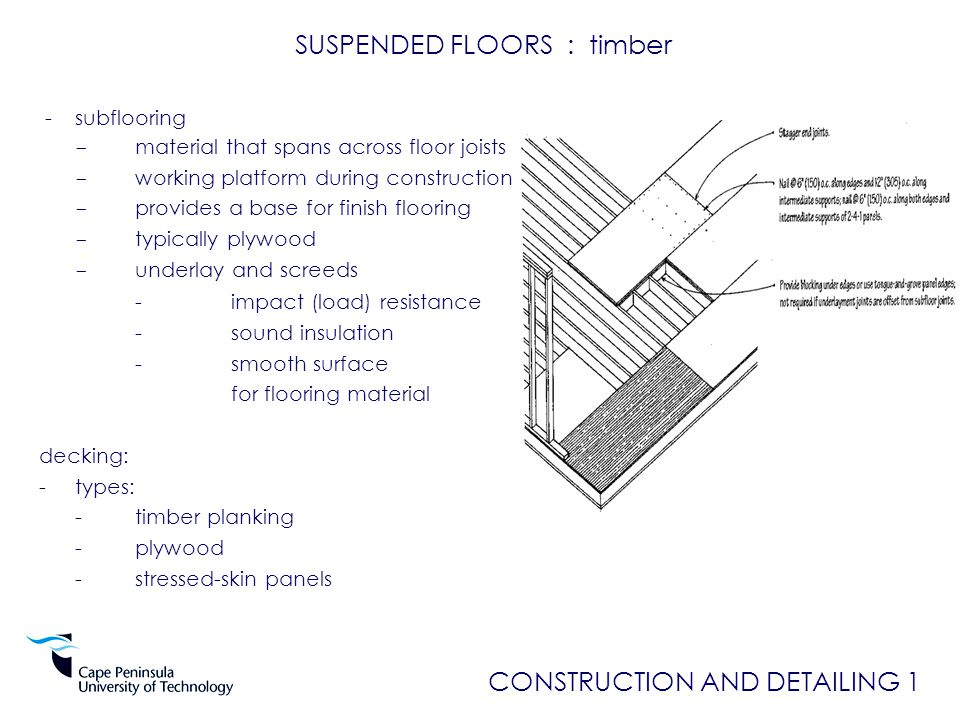Construction And Detailing 1 Ppt Video Online Download