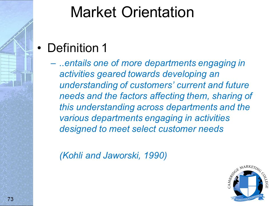 changing market relationships in the internet age chapter 3 sub