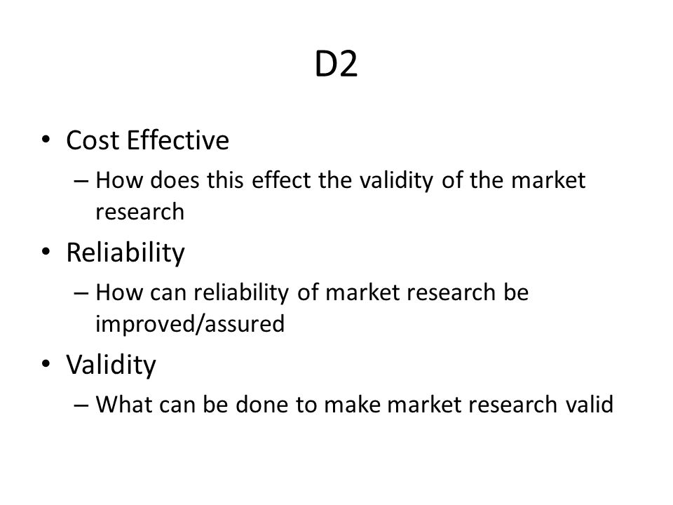 limitation of market research cost effectiveness Start studying marketing chapter 9 pitt learn vocabulary the marketing research director has recommended using a mail panel operated by cost-effectiveness c.