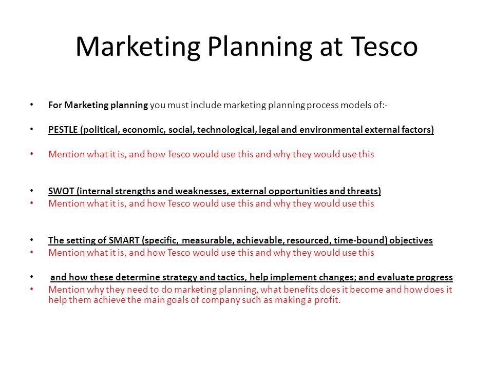 Marketing Research And Marketing Planning At Tesco  Ppt Video