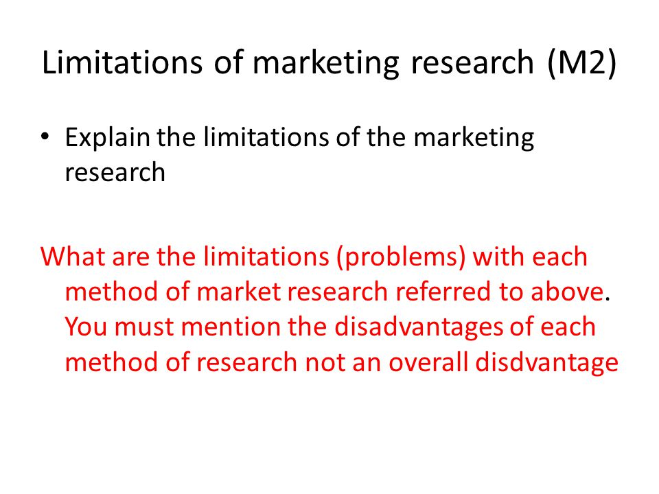 limitations of marketing research development of 198 chapter seven limitations of the study, and recommendations for future research 71 introduction this chapter discusses the overall implications of the findings of the current.