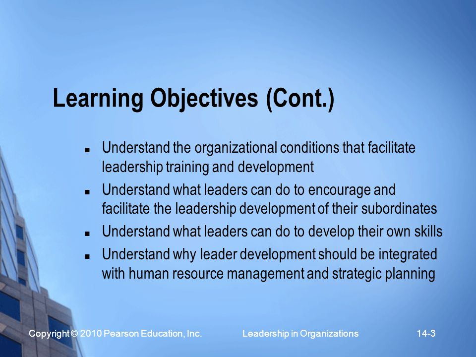 how to write learning objectives for training