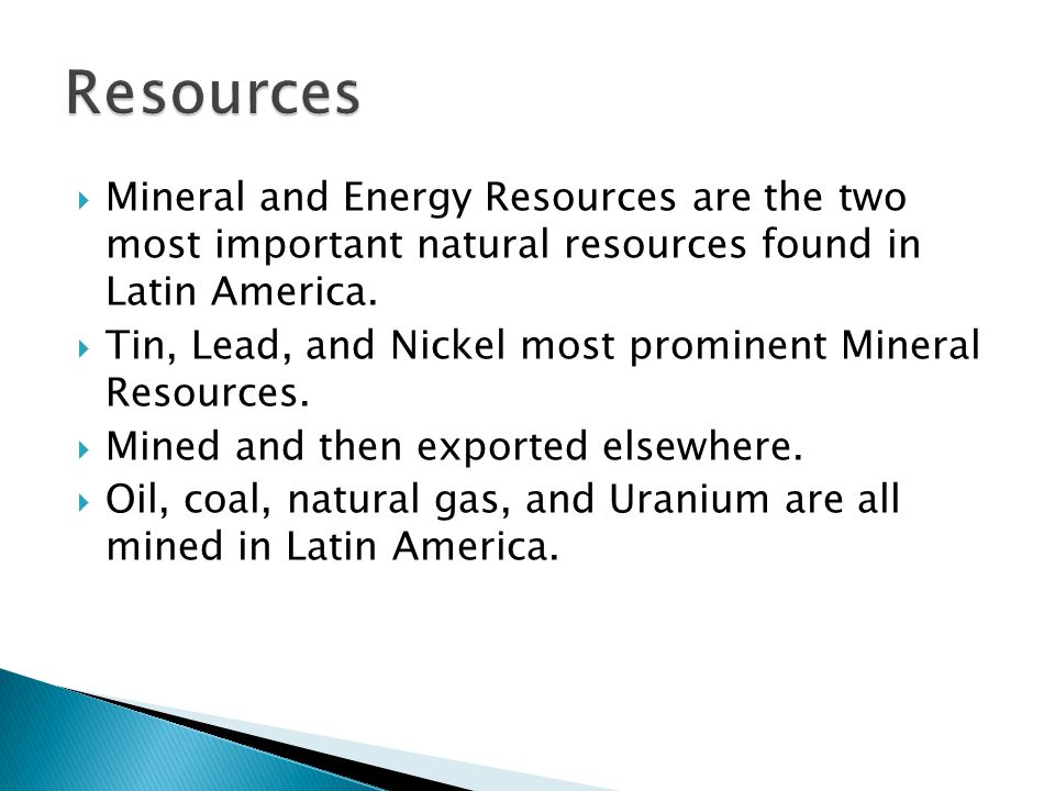 a discussion of the importance of natural resources in america Abstract throughout, the history of the latin america and caribbean (lac) region, natural resource wealth has been critical for its economies.