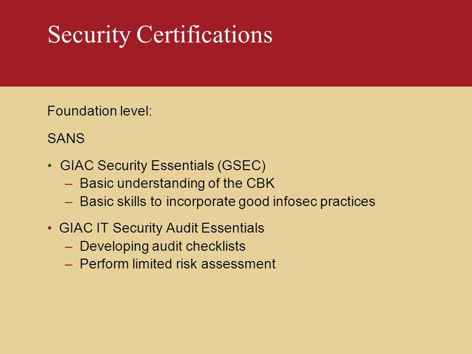 Security Audit Giac Security Audit Essentials