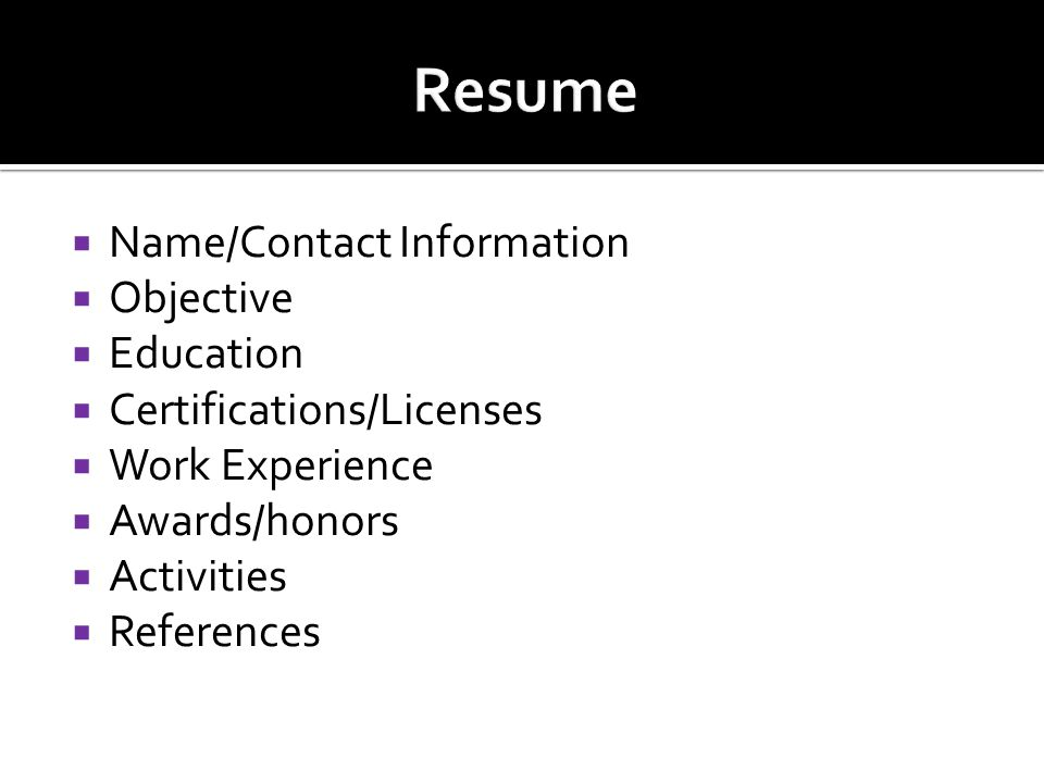 best honors and activities for resume gallery simple resume