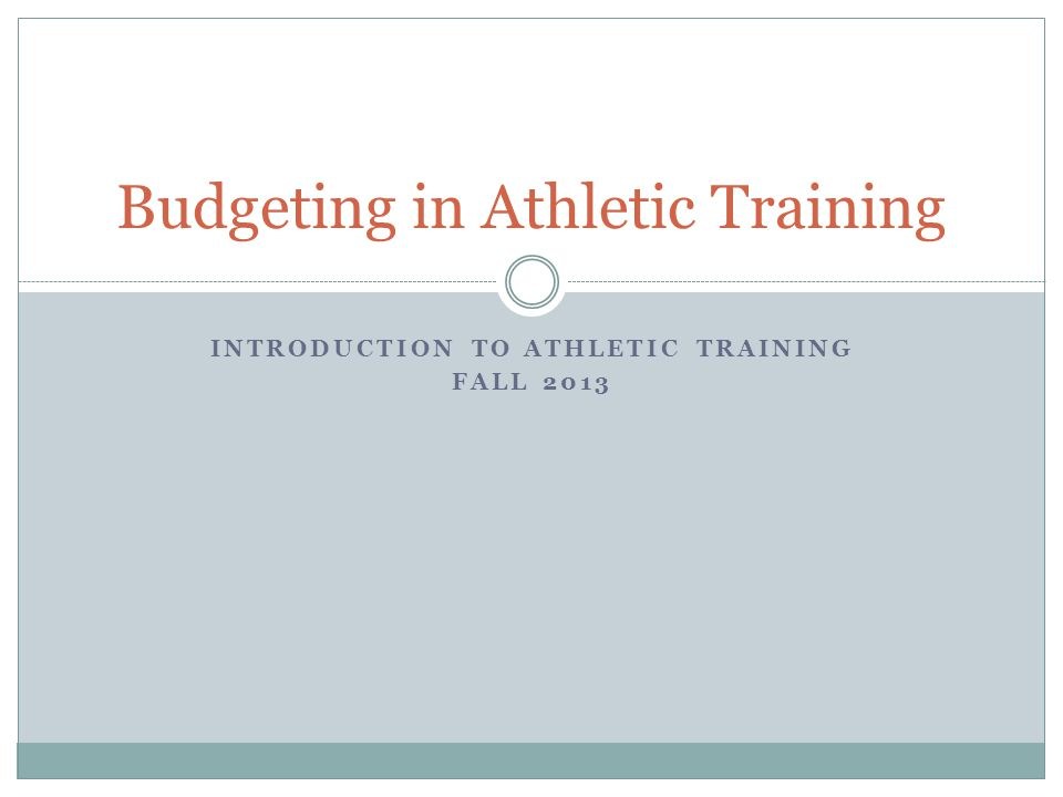 athletic training budget facility Sample athletic healthcare plan guide 1 table of contents 2 overview of emergency action plans safe practice and training techniques and other safety avenues if an ambulance is not present at an event, entrance to the facility should be clearly marked and accessible.