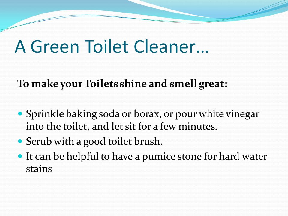 how to clean toilet bowl stains with baking soda
