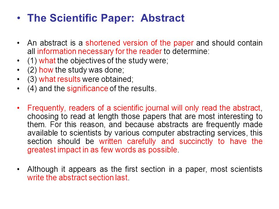 what is an abstract in a research paper pdf