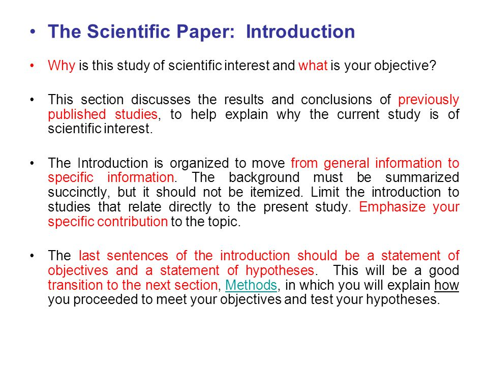 how to write intro to research paper How to write a research journal article in engineering and science1 of the main paper and is less of an outline than the closing paragraph of the introduction.