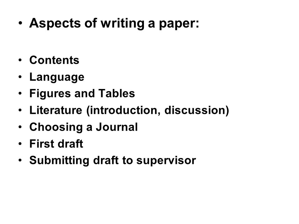 writing a paper introduction