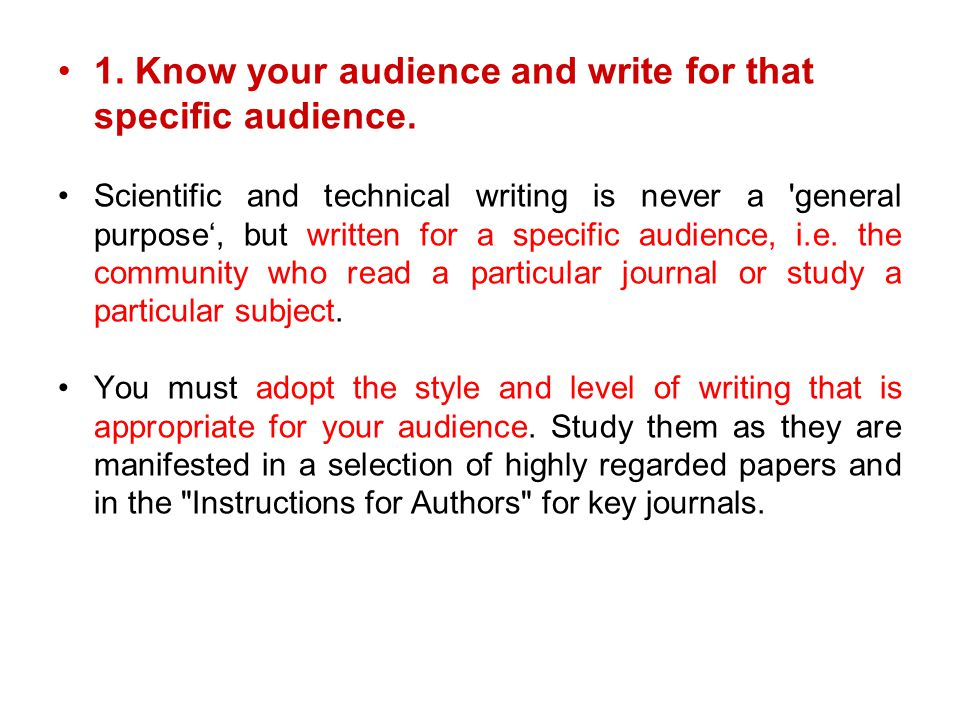 know your audience writing essay How to write an essay/parts it is important to know your audience all writing is persuasive, and if you write with your audience in mind.