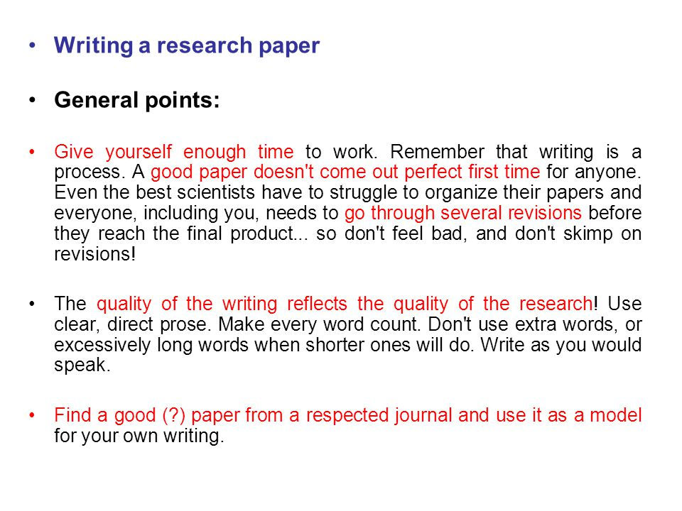 write good quality research paper
