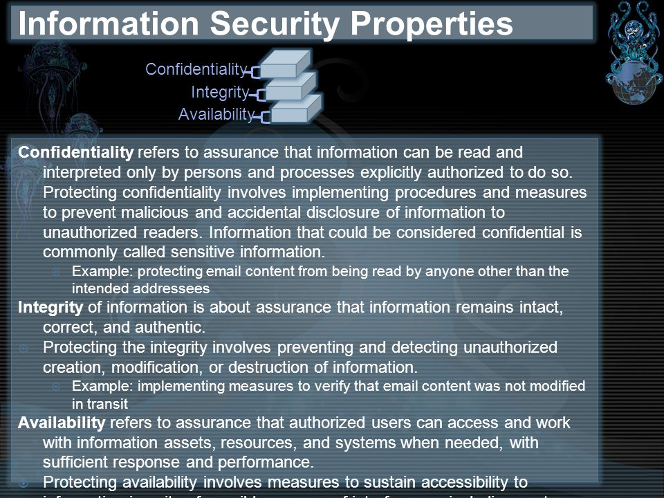 Information Security Properties