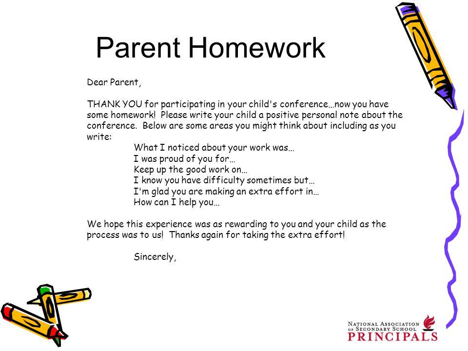 dear parents homework