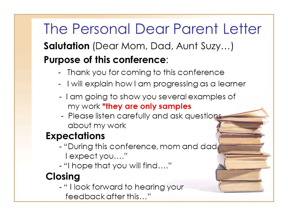 Student led conferences ppt download the personal dear parent letter expocarfo