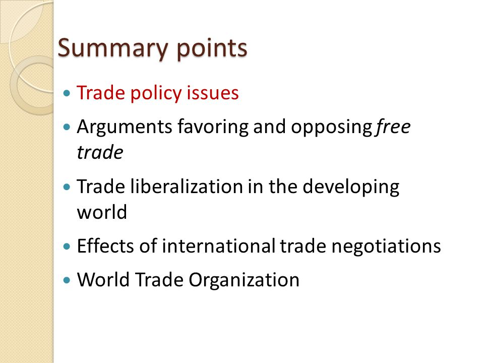 common arguments for and against trade restrictions essay Despite many advantages, free trade policy has never been completely adopted by all the countries of the world particularly after the world war ii, the policy was abandoned even by those who had previously adopted it the following arguments are given against free trade policy 1 unrealistic.