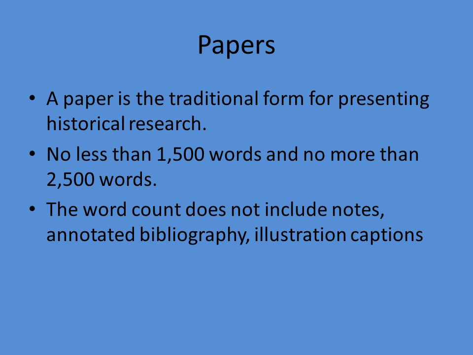 1 in not more than 250 words Abstracts for text-based research projects, or research paper abstracts, (no more than 250 words) usually include: paper title  how to write an abstract: 1).