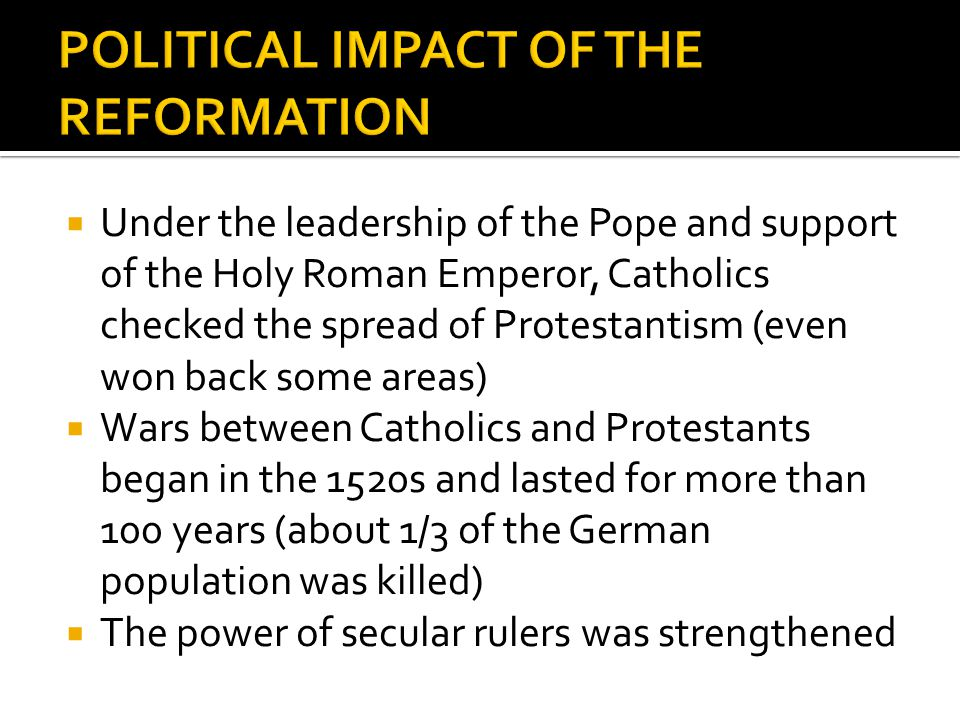 Dbq on the Protestant Reformation