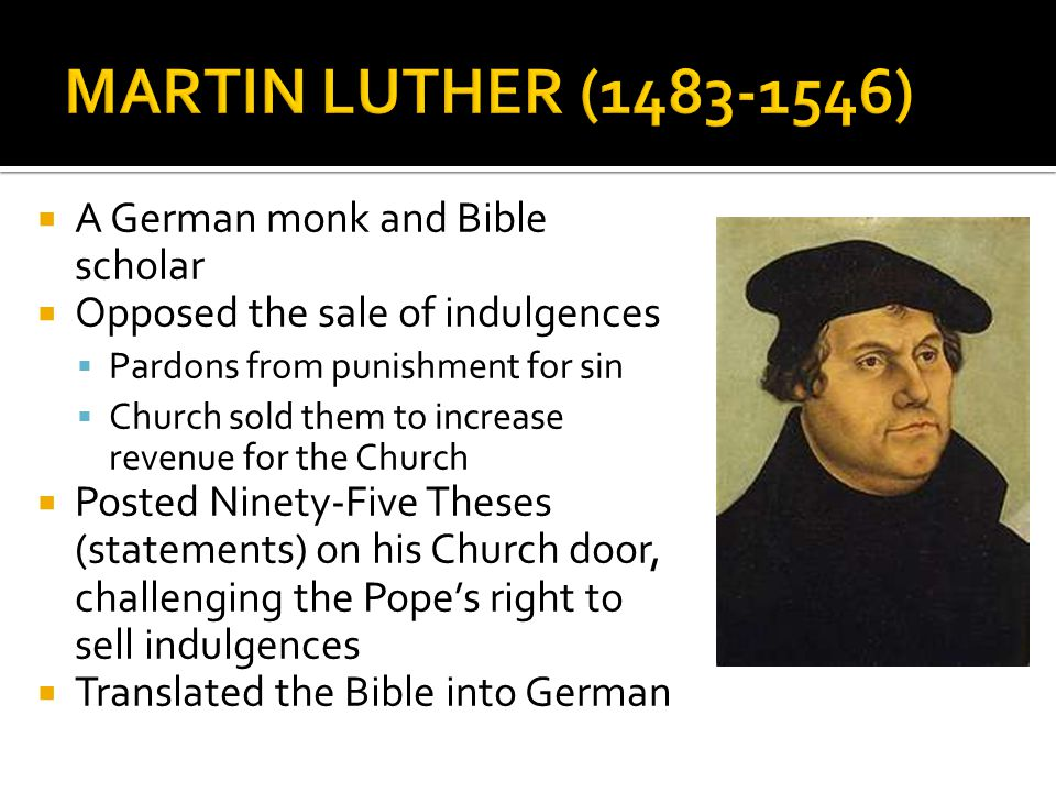 ninety five theses translation I martin luther did not nail the ninety-five theses to the doors of the  lxii  luther's was not the first german translation of the bible, though it.