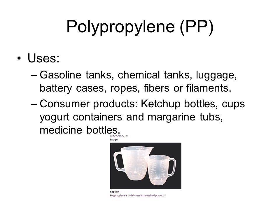 Polypropylene (PP) Uses: