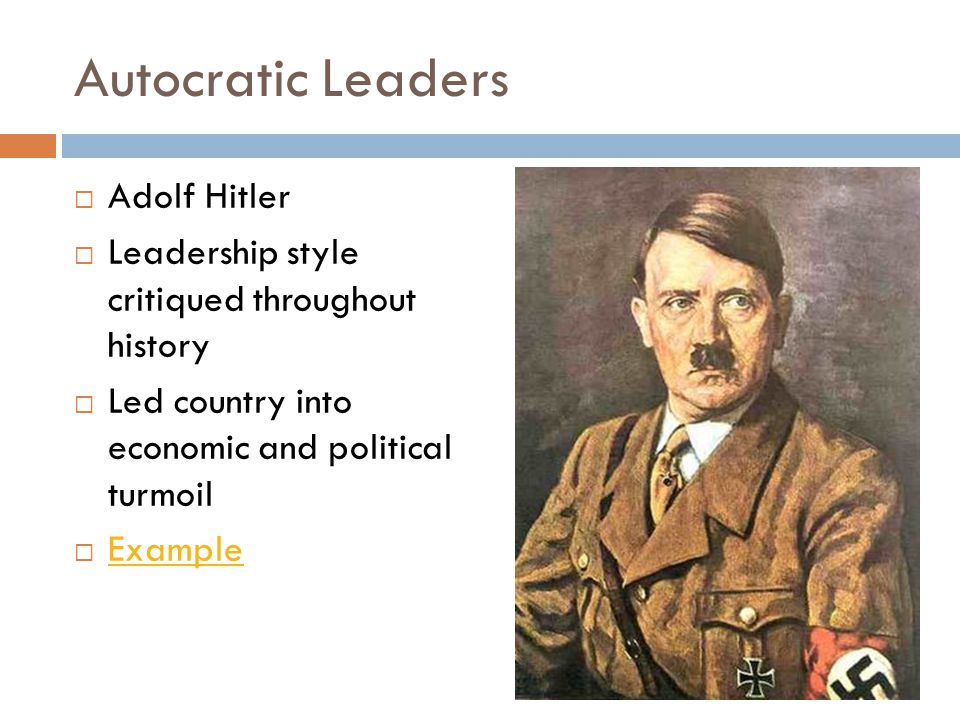 adolf hitler leadership case study Adolf hitler: adolf hitler, leader of the nazi party (from 1920/21) and chancellor and fuhrer of germany (1933–45) he was the leader of germany during that country's participation in world war ii, and he oversaw the nazi party's implementation of the holocaust, which resulted in the deaths of millions of people.